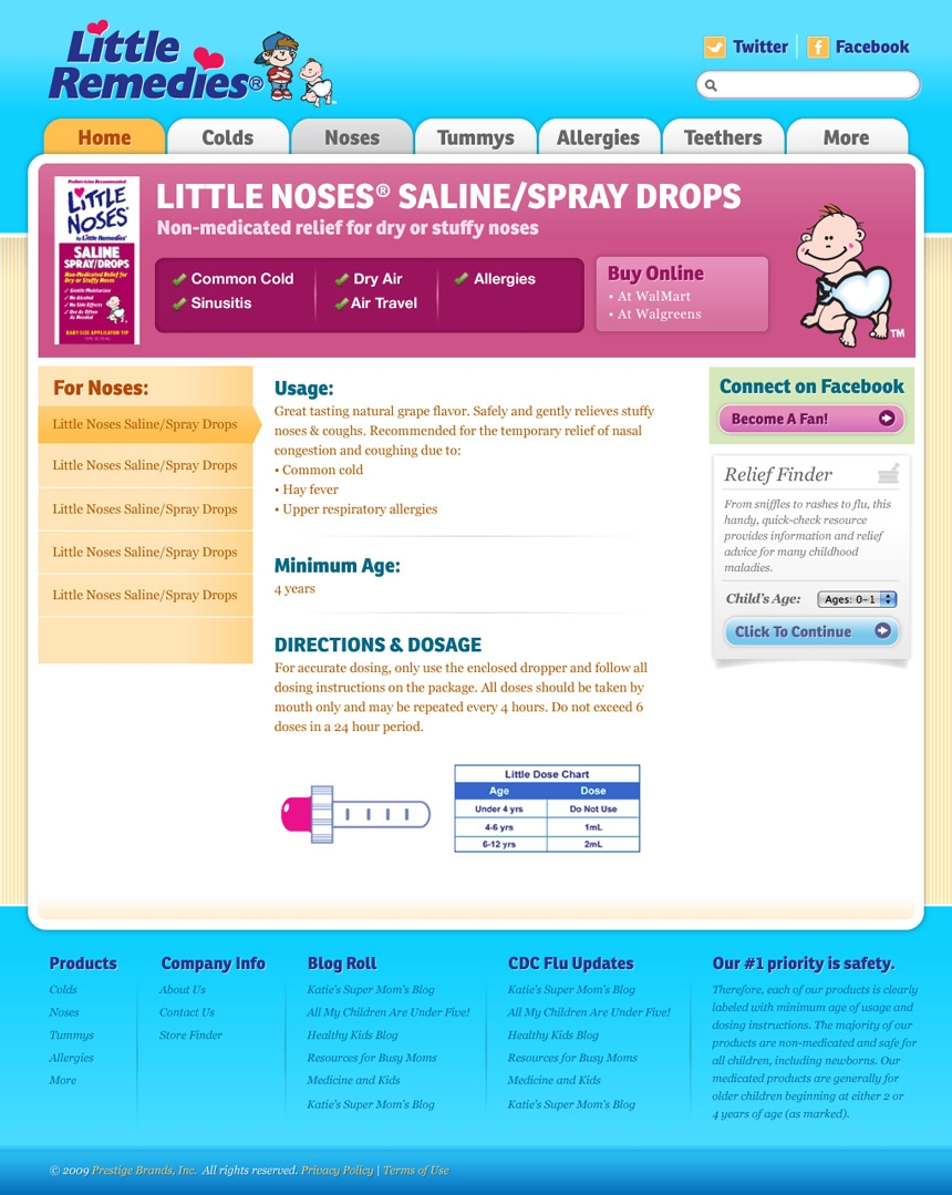 Little Remedies Product Page