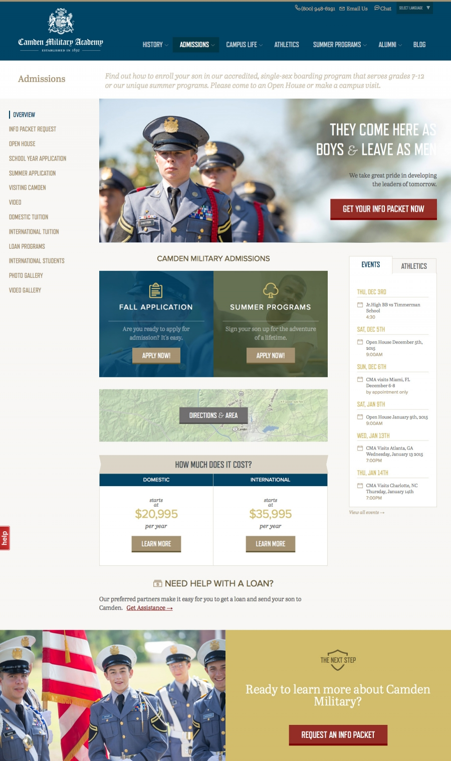 Camden Military Admissions