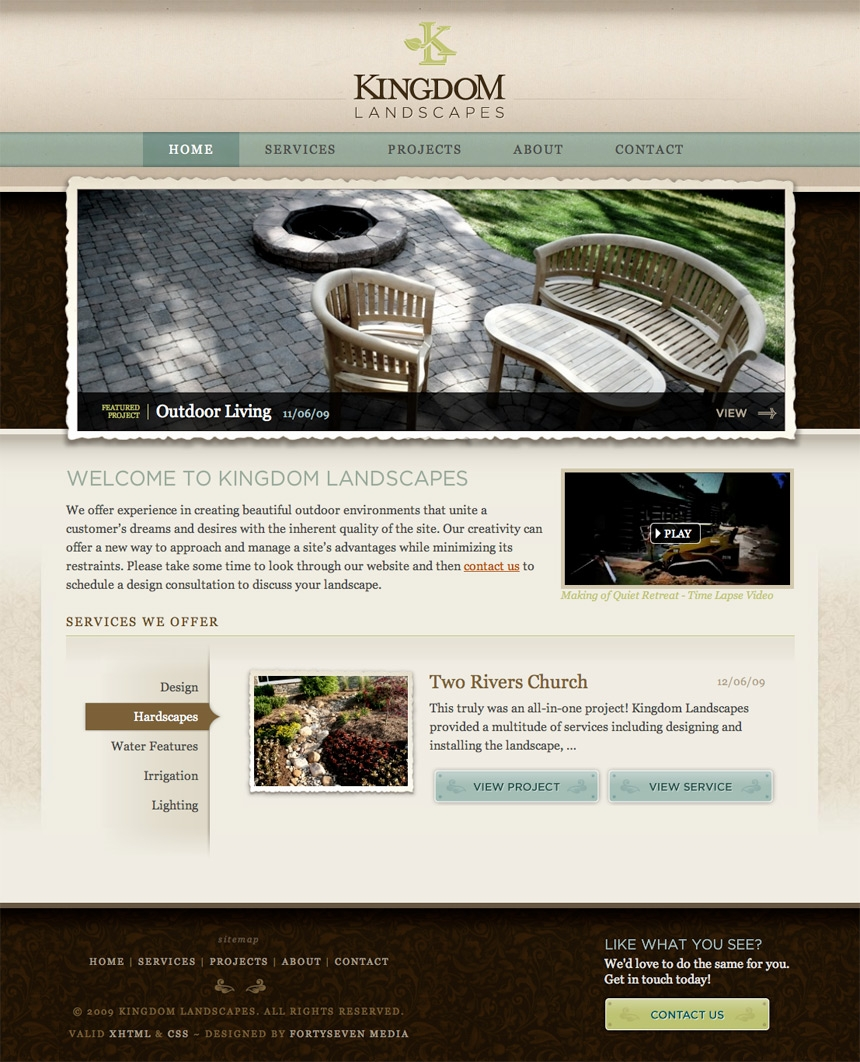 Kingdom Landscapes Homepage