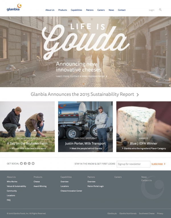 Glanbia Homepage