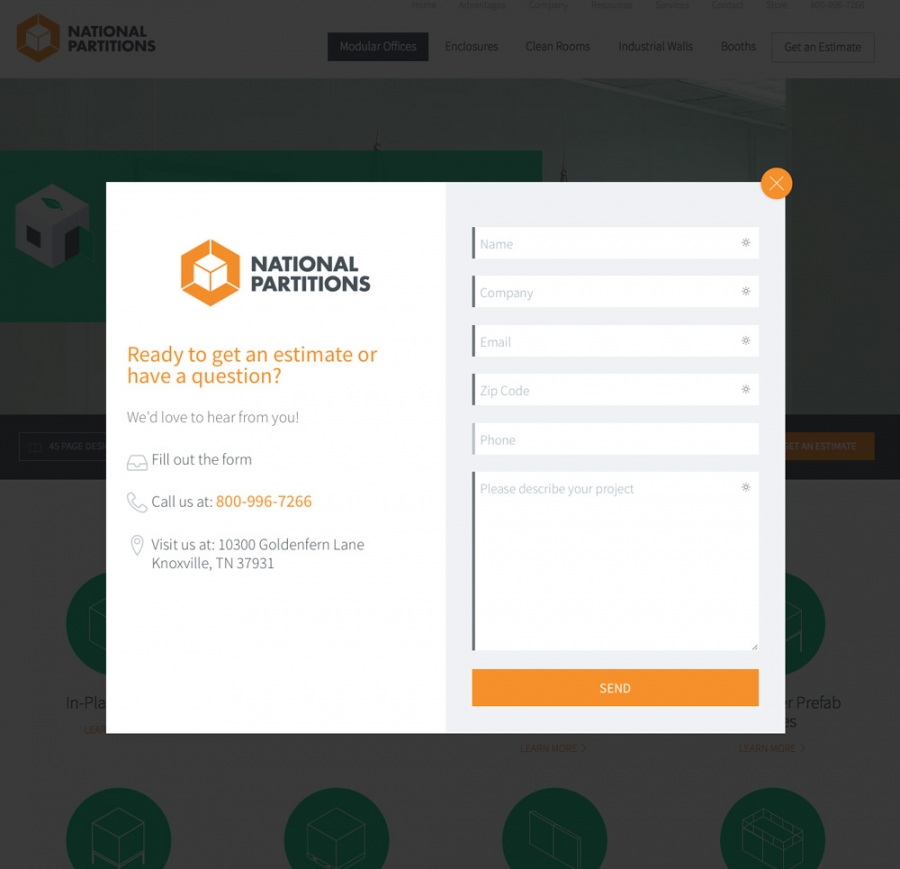 National Partitions Contact Form