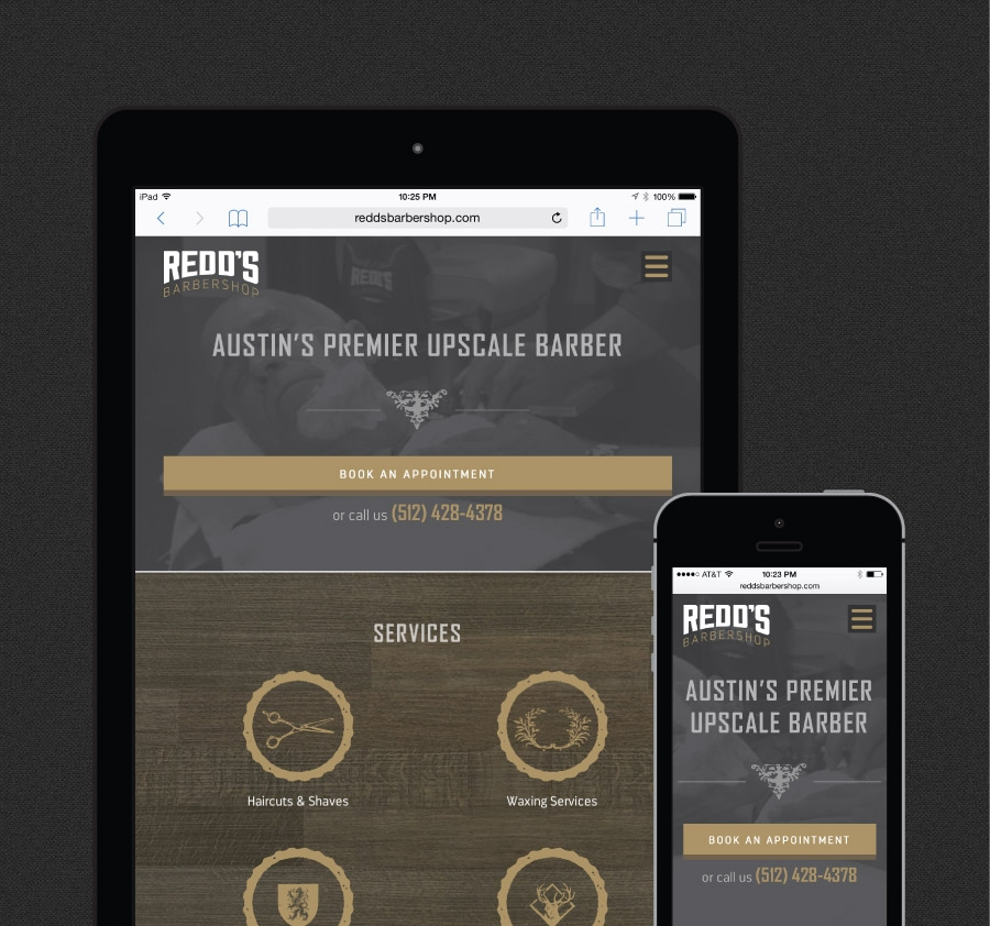 Redd's Barbershop Web Design | Portfolio | FortySeven Media