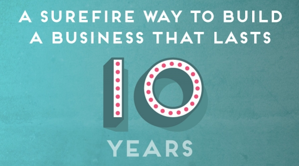 A Surefire way to build a business that lasts 10 years.