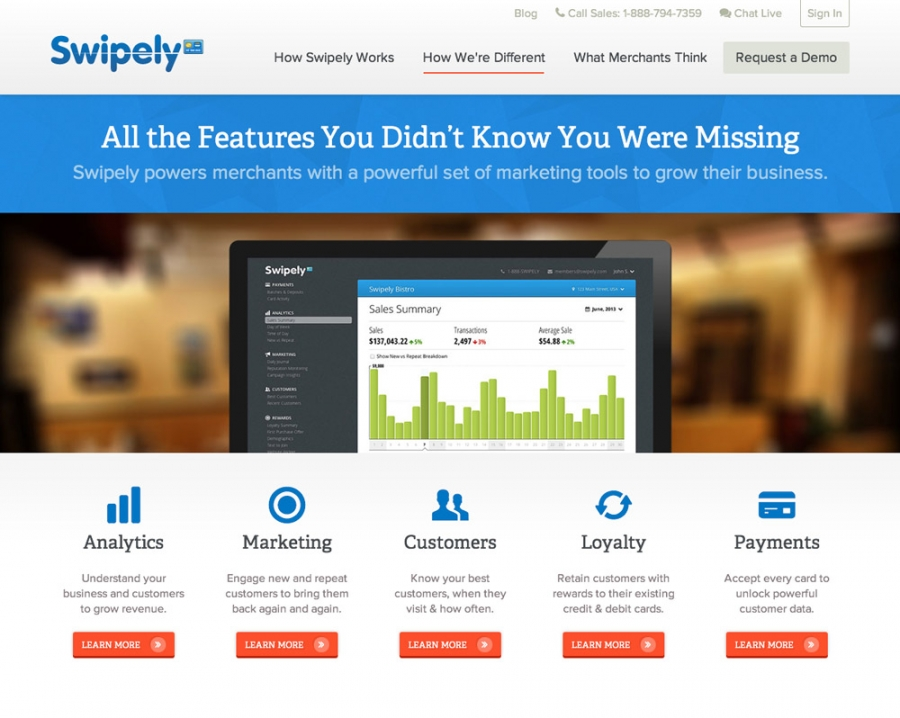 Swipely Features Page