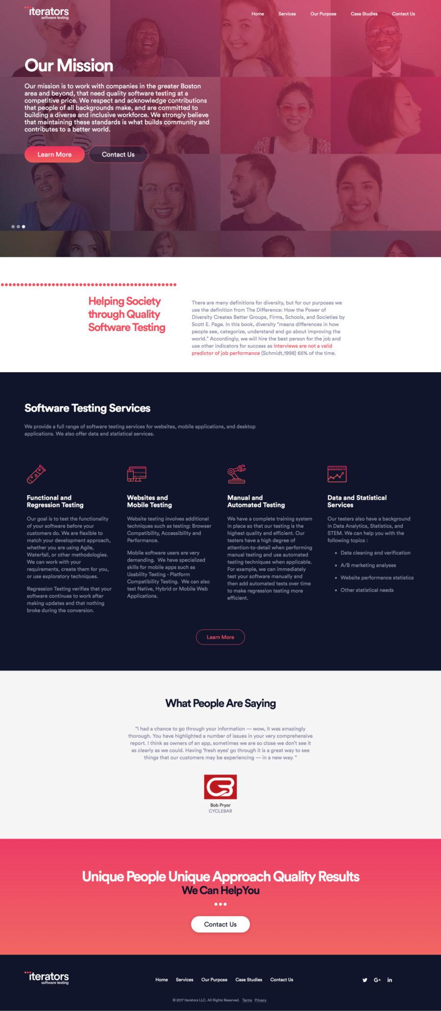 Iterators Homepage