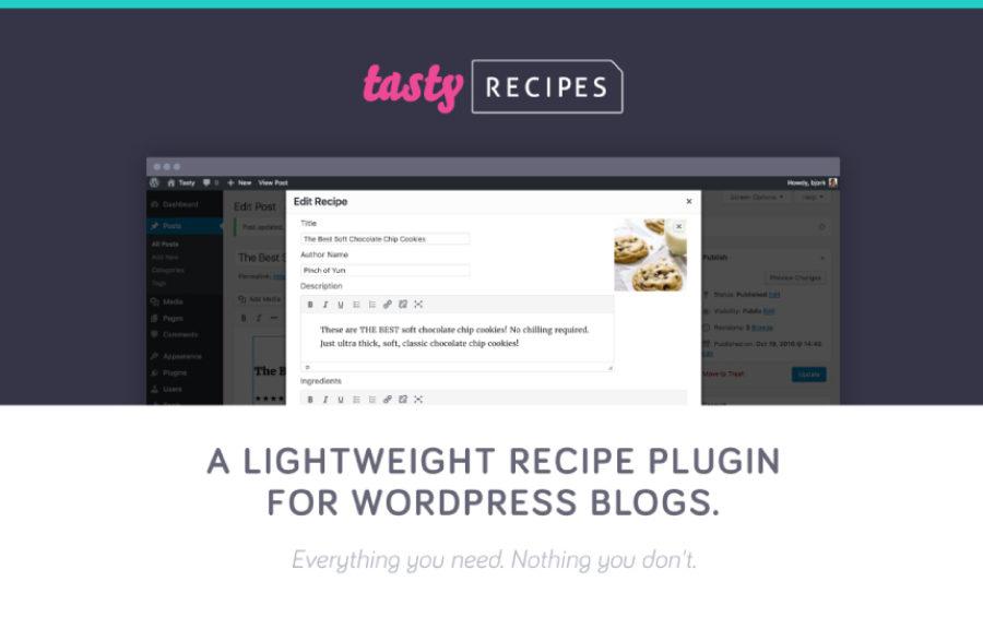 WP Tasty + Tasty Recipies