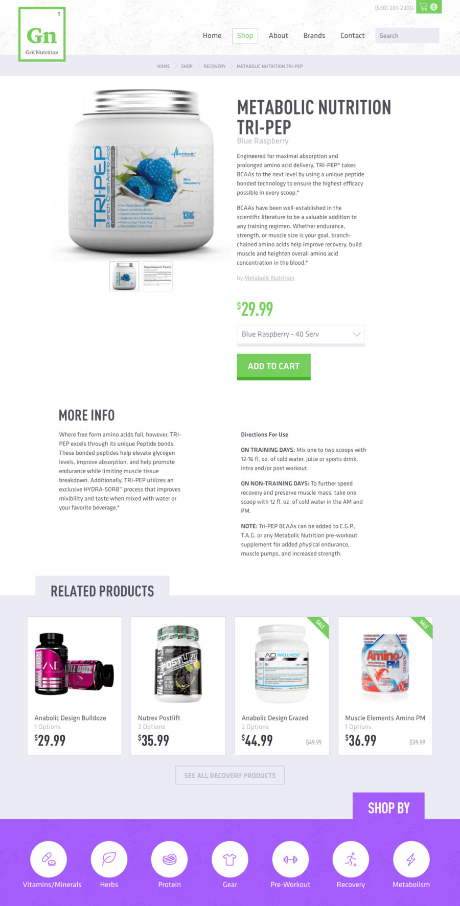 Grit Nutrition Product Page