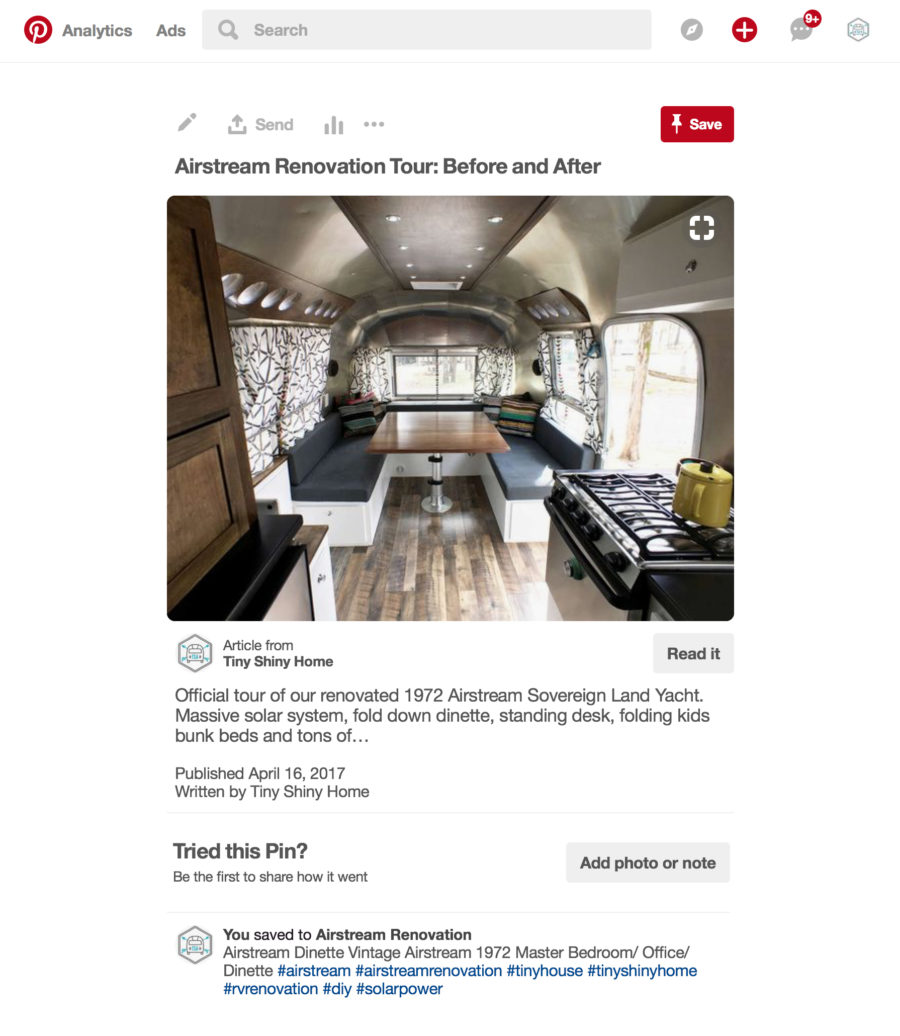 Pinterest Pin With Description And Hashtags