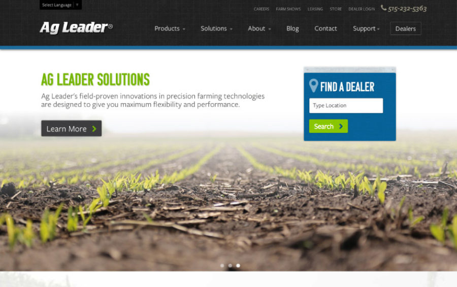 Ag Leader Web Design