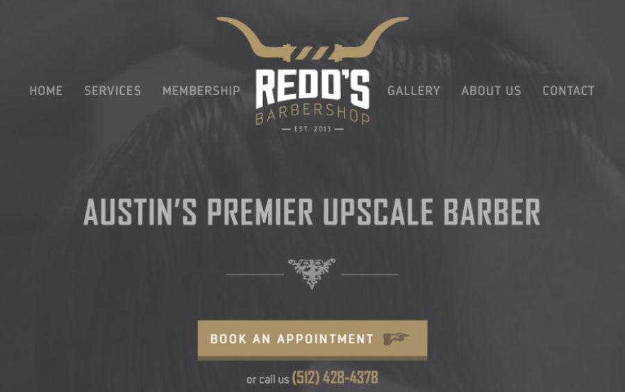 Redd's Barbershop Web Design