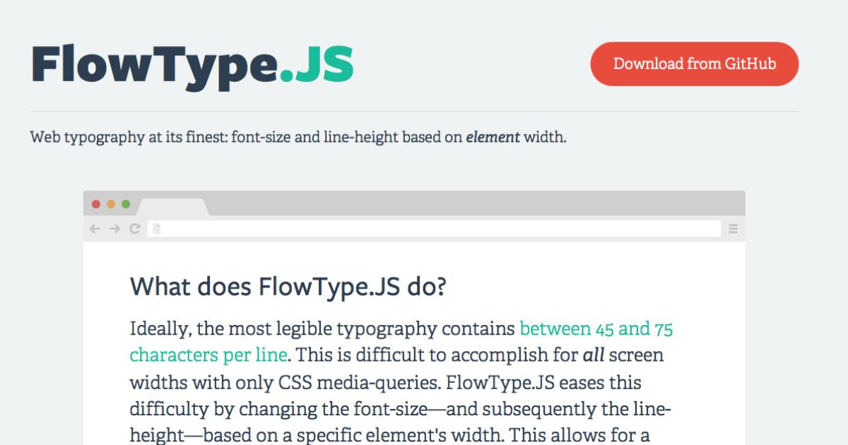 FlowType JS - Makin' Responsive Type Easy | Blog