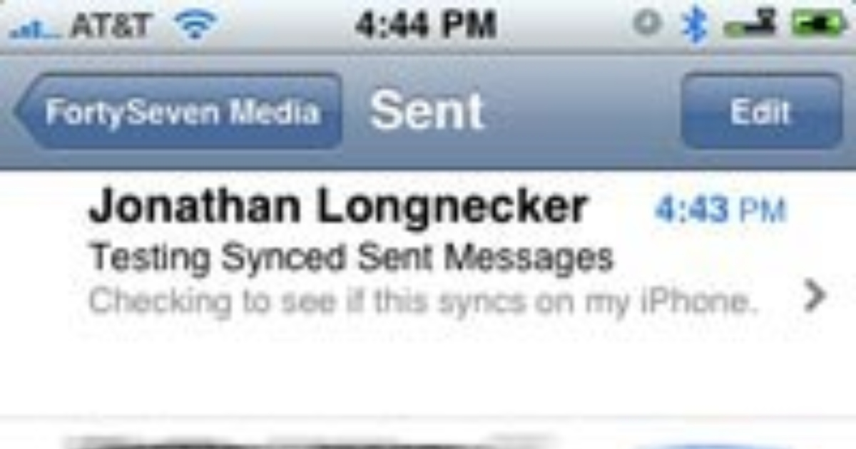 Syncing Your Sent Mail on Your Computer and iPhone | Blog