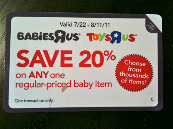 Save 20% on any one regular-priced baby item