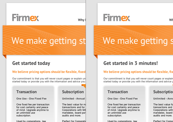 Firmex A/B Example
