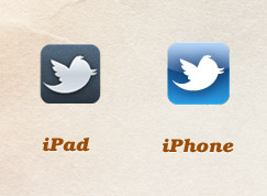 Twitter icons for iPhone and iPad
