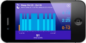 Up iPhone Sleep Cycle Screen